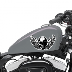 Lot De 2 Stickers Moto Skull Wing - 1