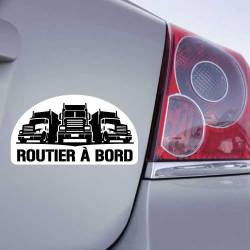 Sticker Routier à Bord