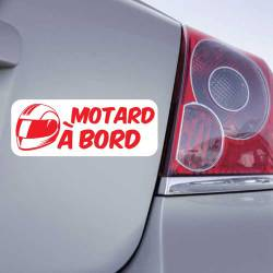 Sticker Motard à Bord Casque