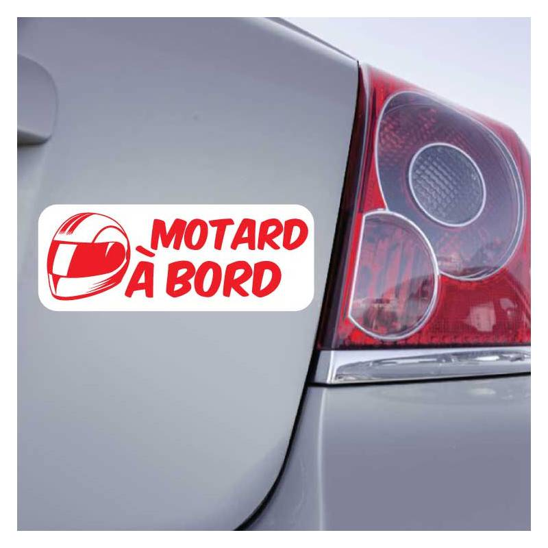 Sticker Motard à Bord (Casque)