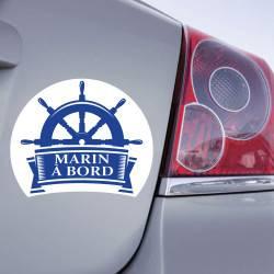 Sticker Marin à Bord Gouvernail