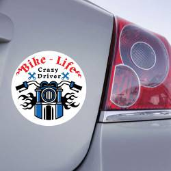 Sticker Bike Life Crazy Driver