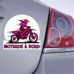 Sticker Motarde à Bord Moto