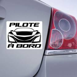 Sticker Pilote à Bord SuperCar