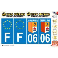 Sticker Plaque 06 Alpes Maritimes