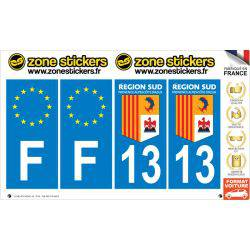 Sticker Plaque 13 Bouches du Rhône