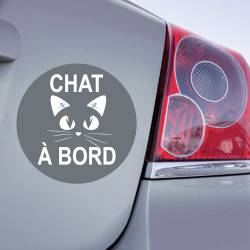 Sticker Chat à Bord - 2