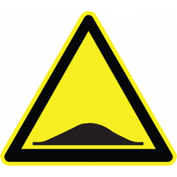 Sticker Panneau Danger Dos D'âne