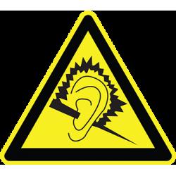 Sticker Panneau Danger Niveau Sonore
