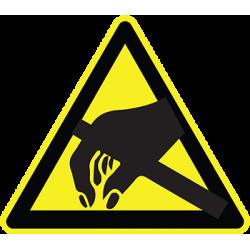 Sticker Panneau Danger Décharge électrostatique