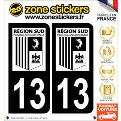Sticker Plaque 13 Bouches du Rhône - Noir