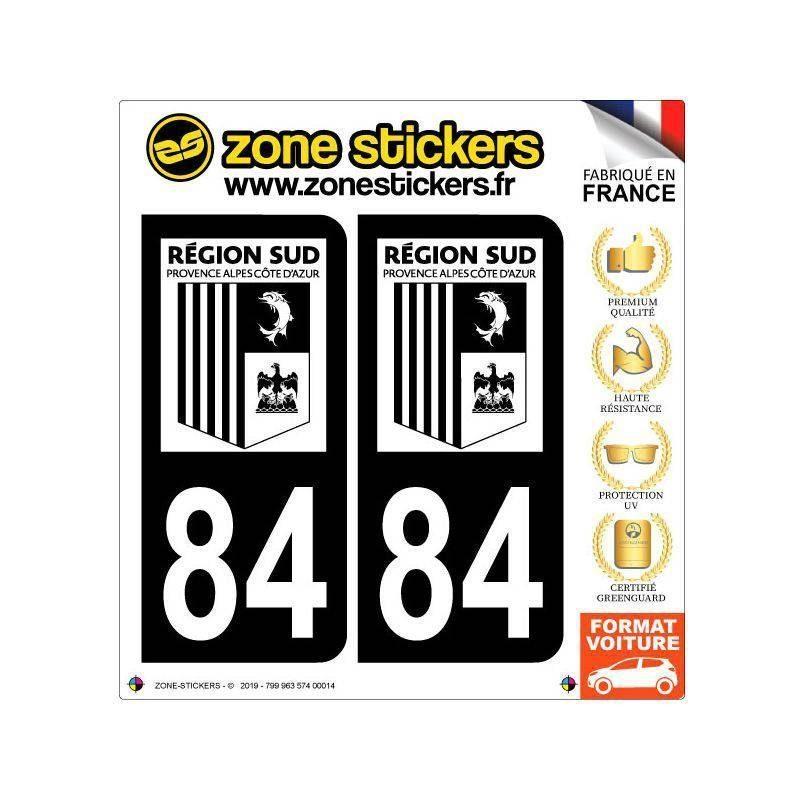 Sticker Plaque 84 Vaucluse - Noir