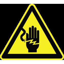 Sticker Panneau Danger Risque De Choc Electrique