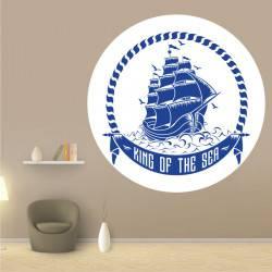 Sticker Mural Bateau Roi de...