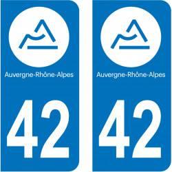 Autocollant Plaque 42 Loire