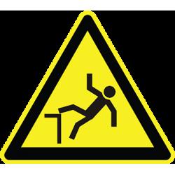 Sticker Panneau Danger Risque De Chute