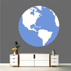 Sticker Globe - Afrique