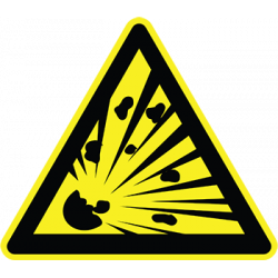 Sticker Panneau Danger Matières Explosives