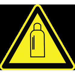 Sticker Panneau Danger Bouteille De Gaz