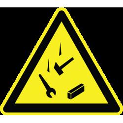 Sticker Panneau Danger Chute D'Outils