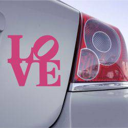 Autocollant Voiture Love