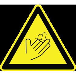 Sticker Panneau Danger Risque De Coupures