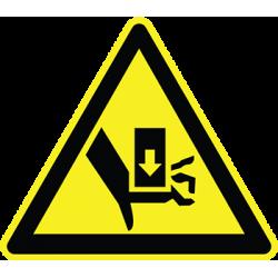 Sticker Panneau Danger D'Ecrasement