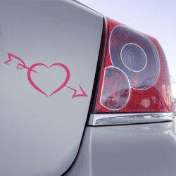 Sticker Coeur Love Fleche
