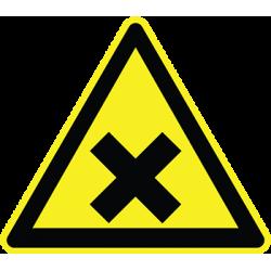 Sticker Panneau Danger Matières Nocives