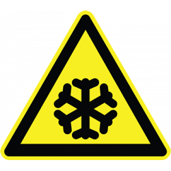 Sticker Panneau Danger Basse Température