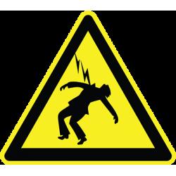 Sticker Panneau Danger Eléctrocution
