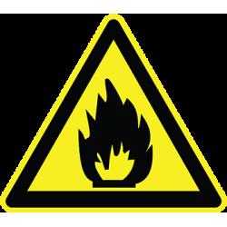 Sticker Panneau Danger Matières Inflammables