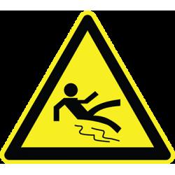 Sticker Panneau Danger Risque De Glissade