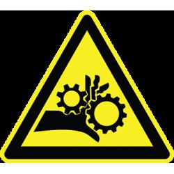 Sticker Panneau Danger Ecrasement Engrenage