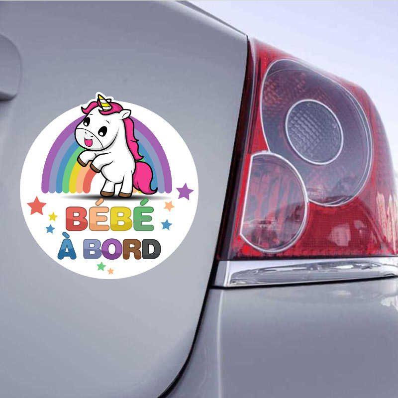 bbab97 LICORNE  Ref Sticker autocollant Bébé à Bord
