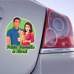 Autocollant Petite Famille à Bord - 1