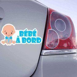 Autocollant Bébé à Bord - Garçon - 1