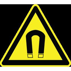 Sticker Panneau Danger Champ magnétique