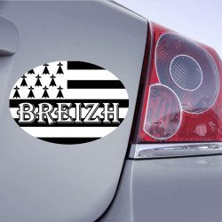Autocollant Drapeau Bretagne BREIZH - 1