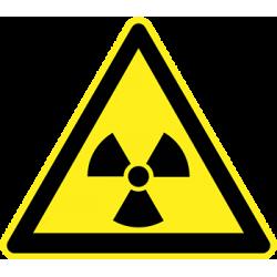 Sticker Panneau Danger Radioactivité