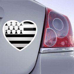 Autocollant Drapeau Love Bretagne - 1