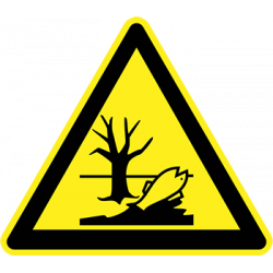 Sticker Panneau Danger Matière Polluante