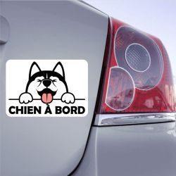 Autocollant Chien à Bord - Husky