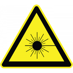 Sticker Panneau Danger Laser rayonnant