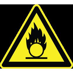 Sticker Panneau Danger Matières comburantes