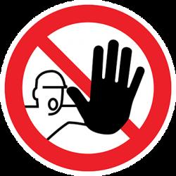 Sticker Panneau Entrée Interdite Aux Personnes Non Autorisées