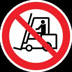 Sticker Panneau Interdit Aux Véhicules De Manutention