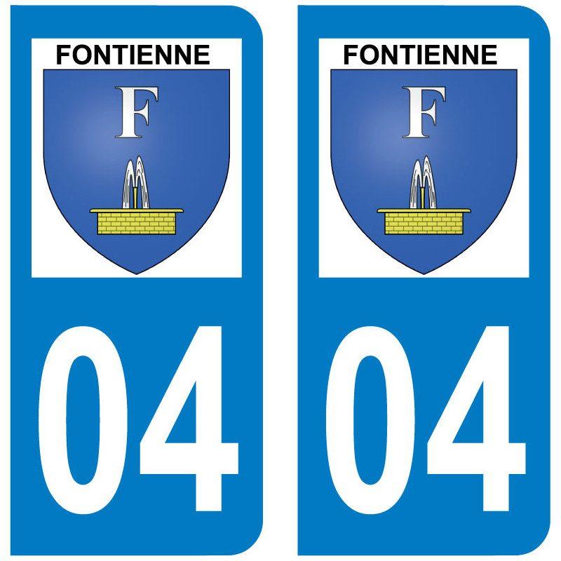 Sticker Plaque Fontienne 04230 - 1