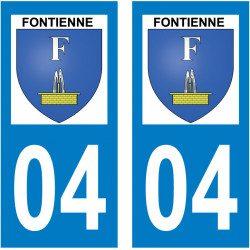 Sticker Plaque Fontienne 04230 - 2