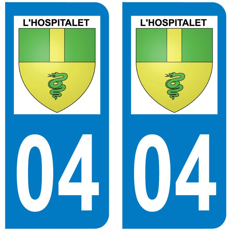 Sticker Plaque L'Hospitalet 04150 - 1